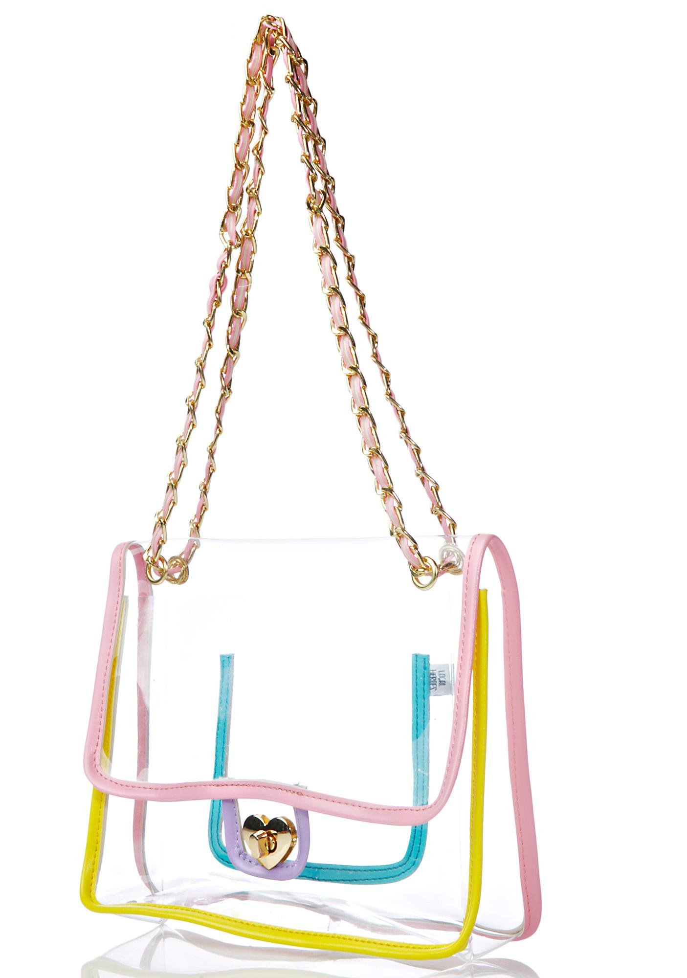 Local Heroes Rainbow Transparent Purse