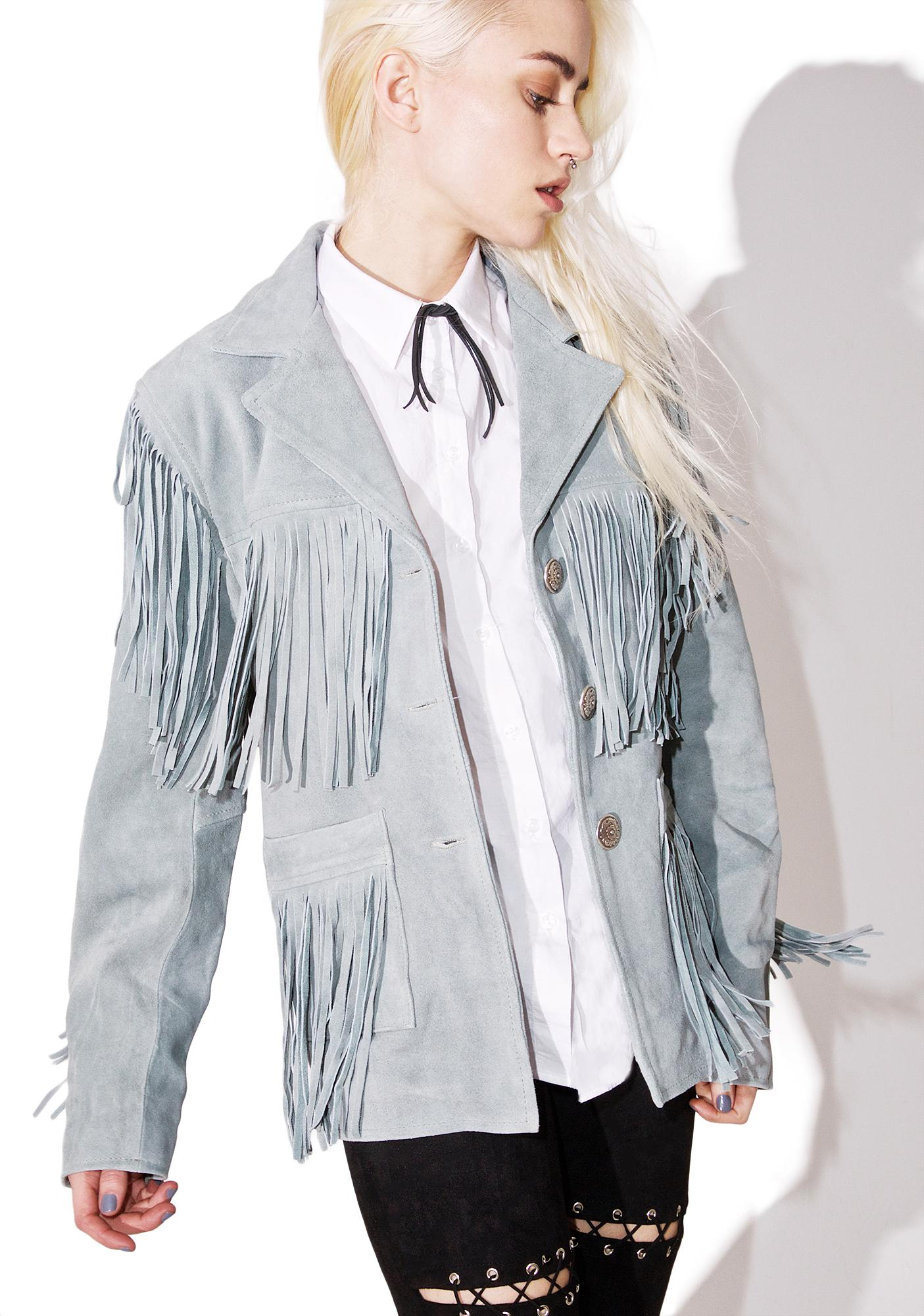 For Love & Lemons Fringe Suede Jacket