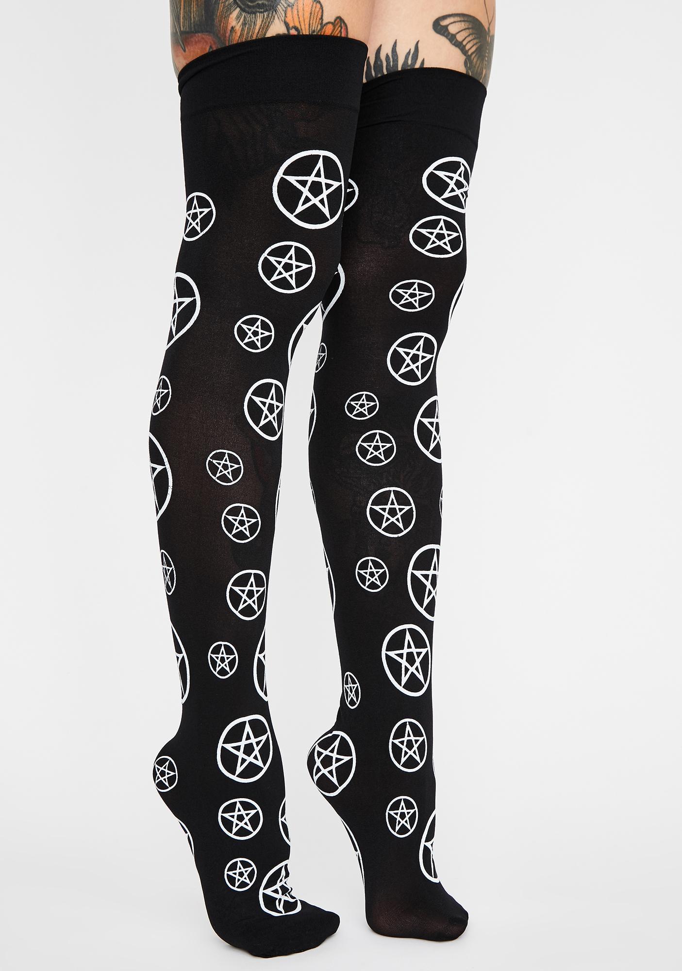 Spirit Whisperer Thigh High Socks