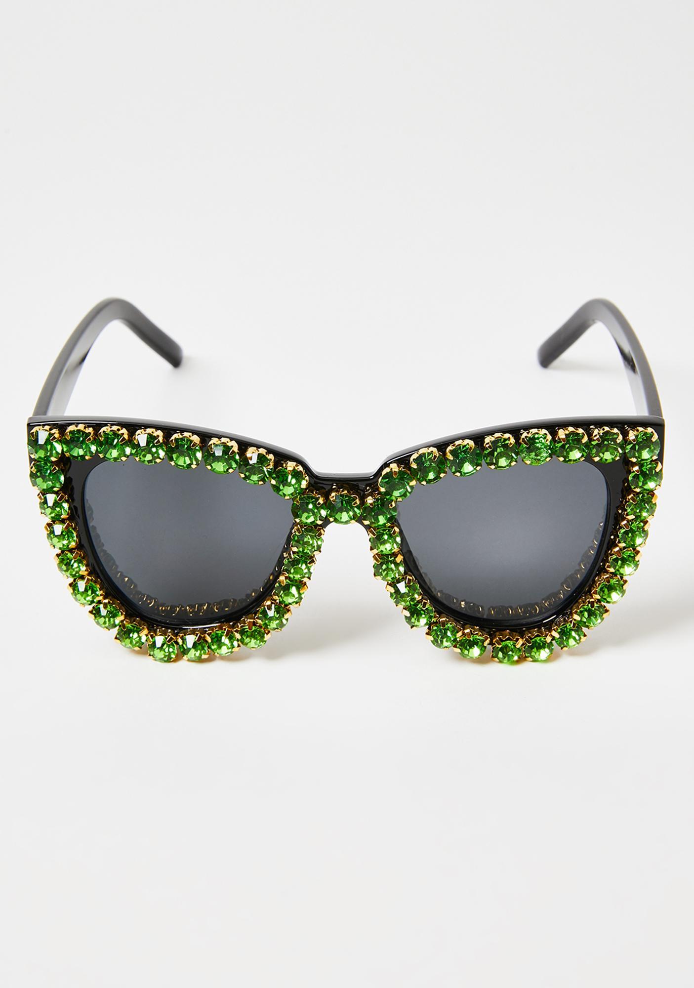 Emerald Blame The Fame Cat Eye Sunglasses
