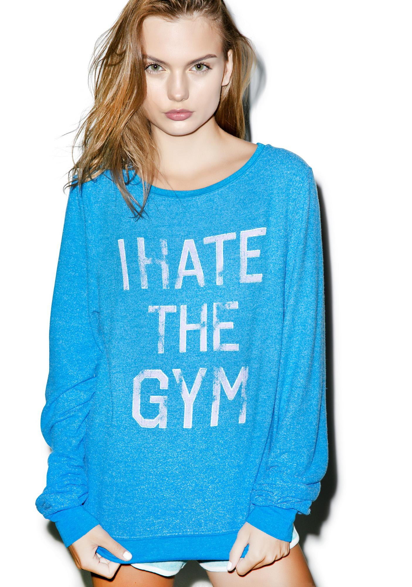 Wildfox Couture I Hate The Gym Baggy Beach Jumper
