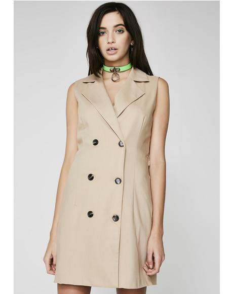 Takin' Notes Short Trench Coat