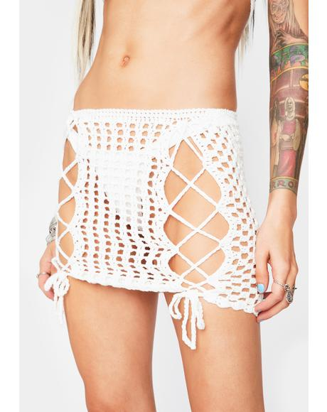 Heaven Gonna Get Rowdy Lace Up Skirt