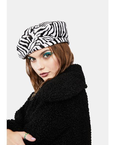 She's Wild Zebra Beret