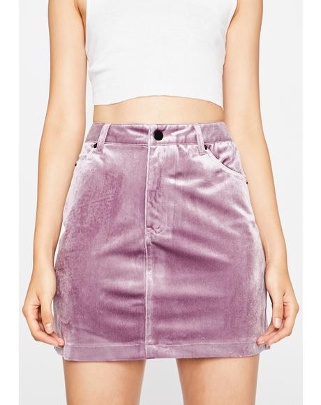 Velvet Fog Mini Skirt