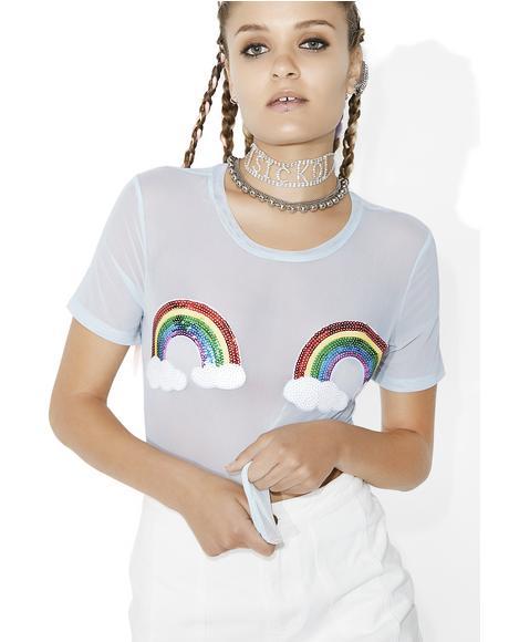 Rainbow Revolution Sheer Tee