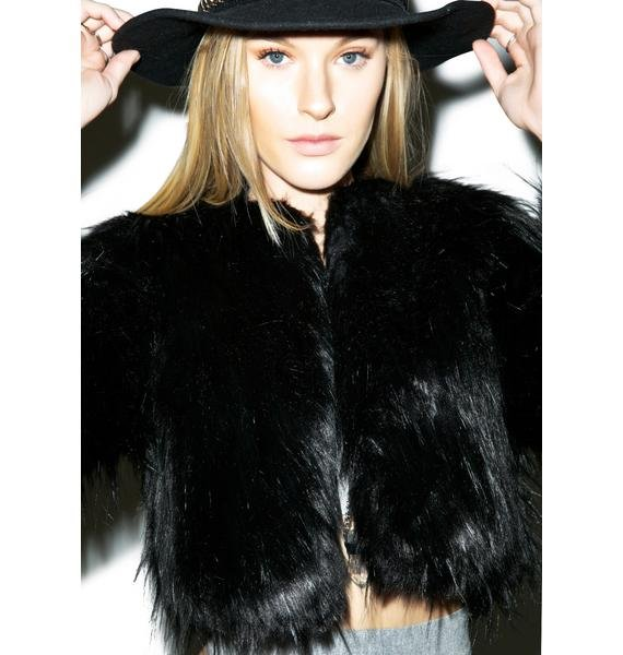 Disturbia Marla Faux Fur Jacket