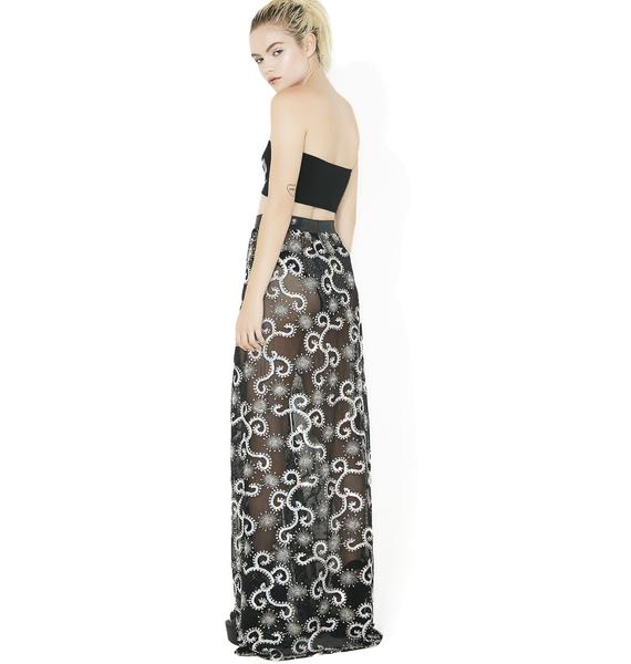 J Valentine Sequin Gypsy Skirt