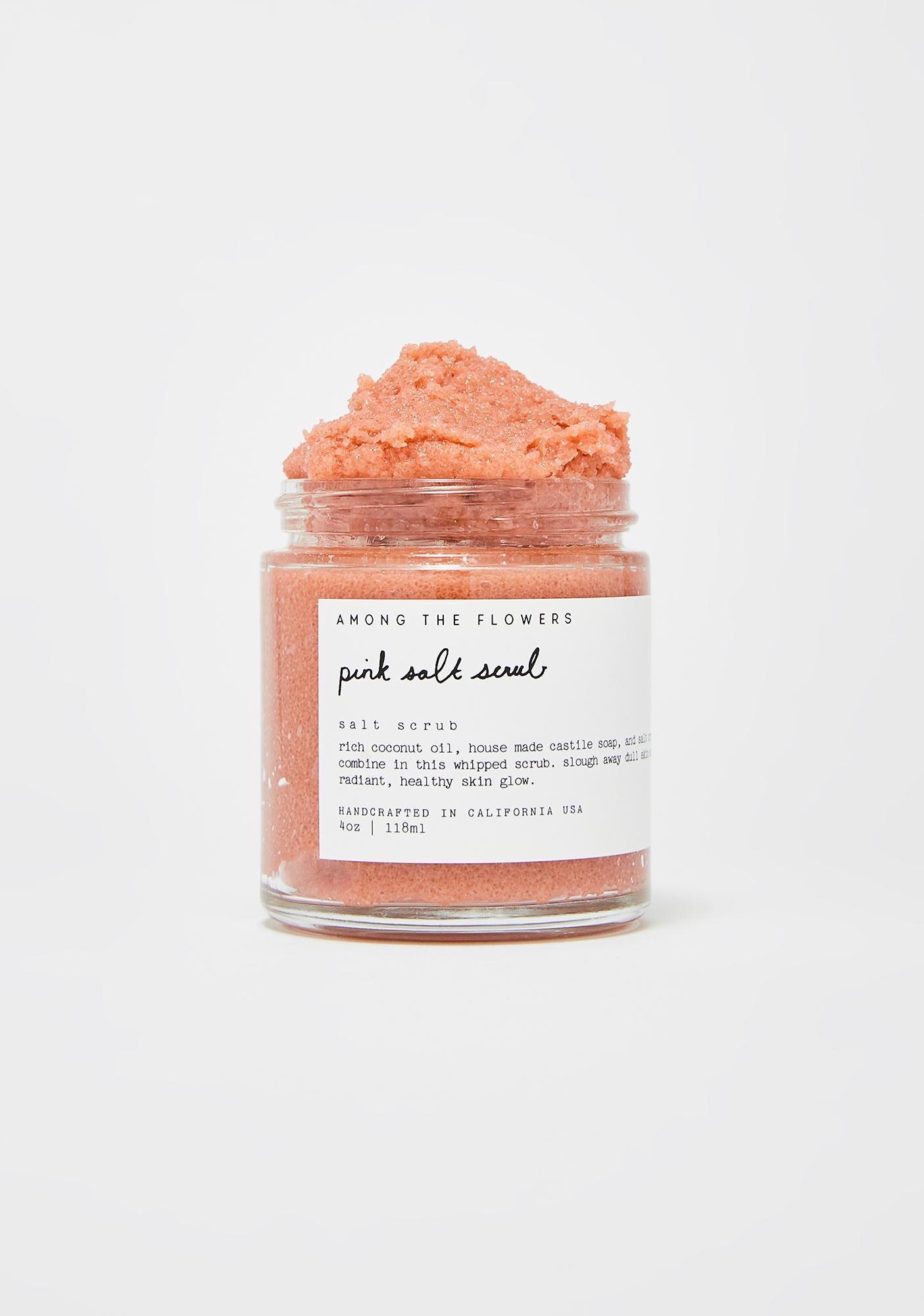 Among The Flowers Pink Salt Scrub