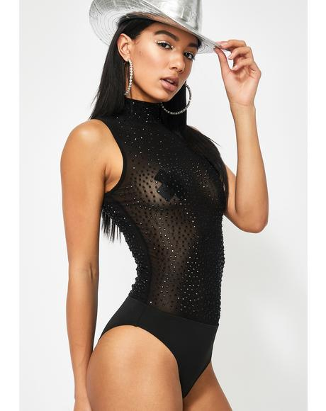 Cold As Ice Mesh Bodysuit
