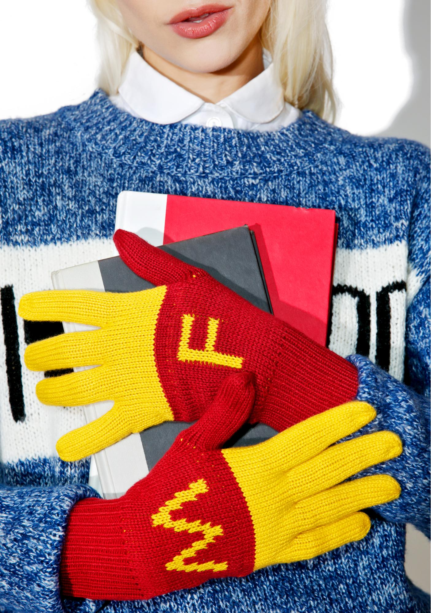 Wildfox Couture Super Fries Finger Food Gloves