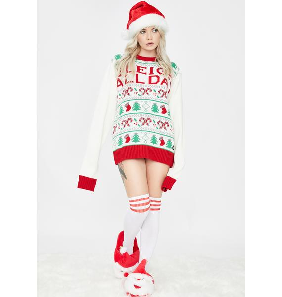 American Stitch Sleigh All Day Christmas Sweater