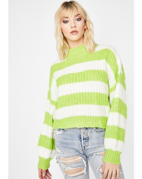 Kiwi Growing Tired Striped Sweater