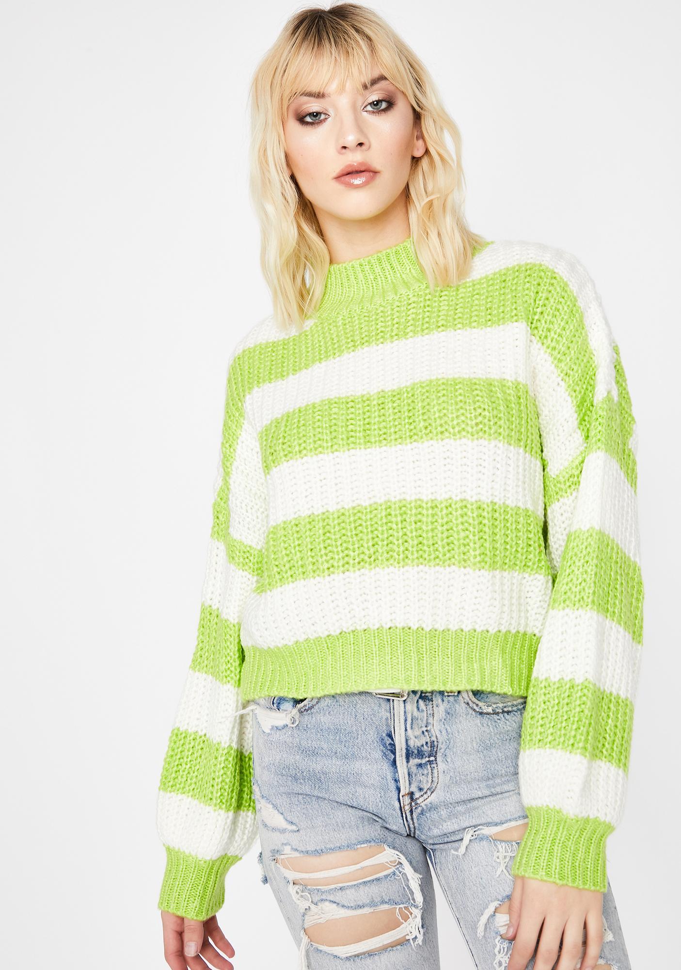 Kiwi Growing Tired Striped Sweater