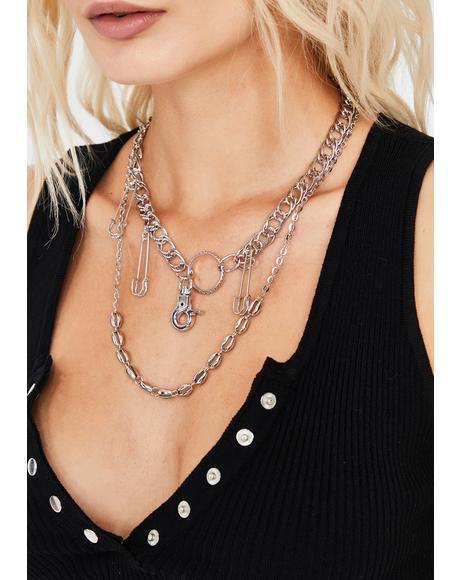False Security Layered Necklace