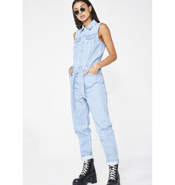 Levis In A Snap Tapered Jumpsuit