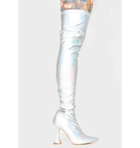 Cosmic Vivacious Vixen Thigh High Boots