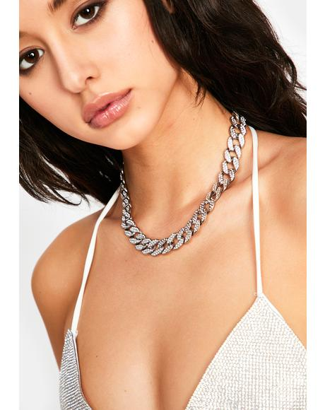 Big Deal Rhinestone Necklace
