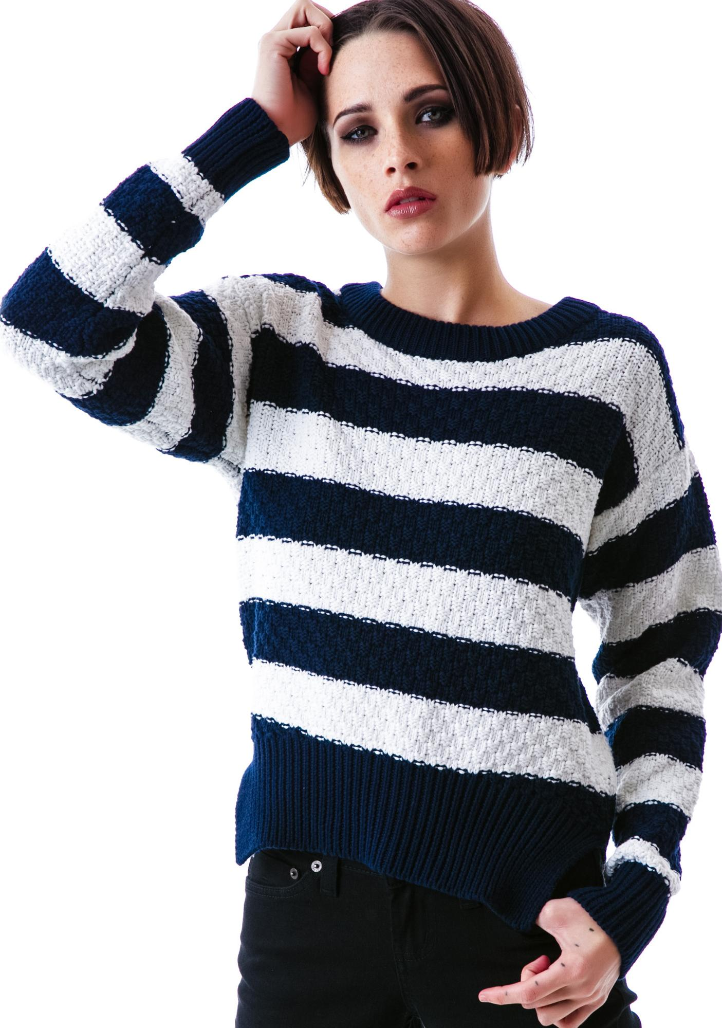 Mink Pink Team Player Knitted Jumper