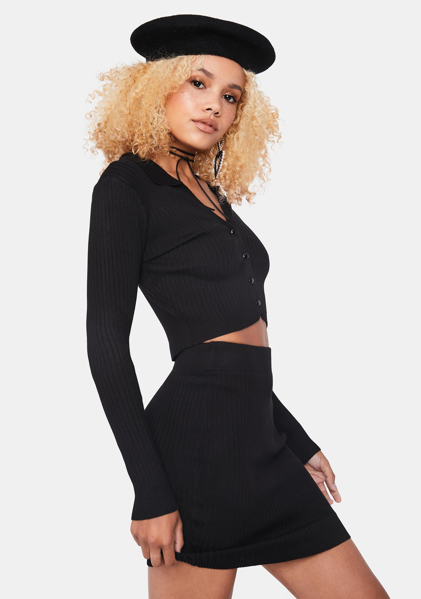 Noir Off Duty Cutie Skirt Set