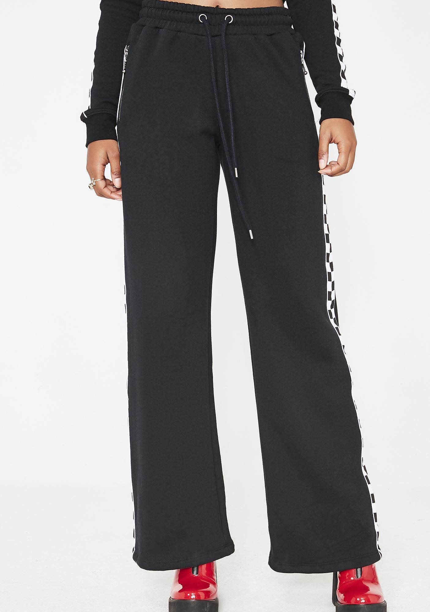 Dickies Girl Checkered Side Stripe Skinny Work Pants