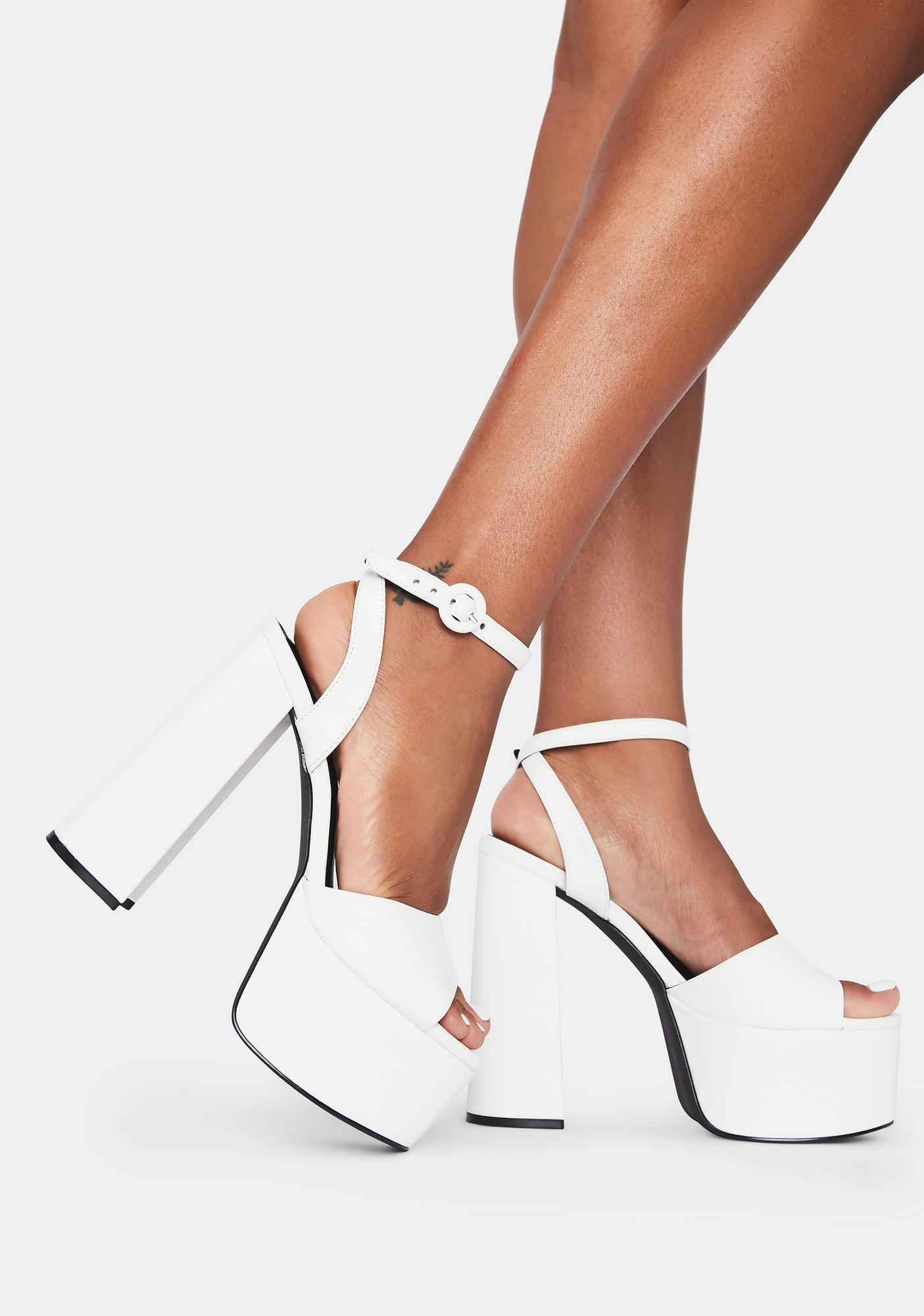 Ivory Space Angel Platform Heels