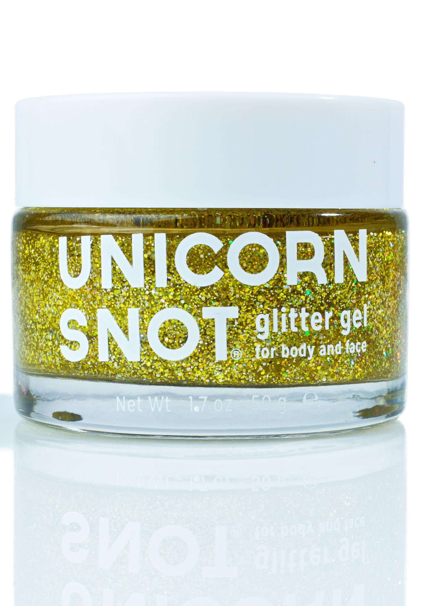 Unicorn Snot Gold Glitter Gel