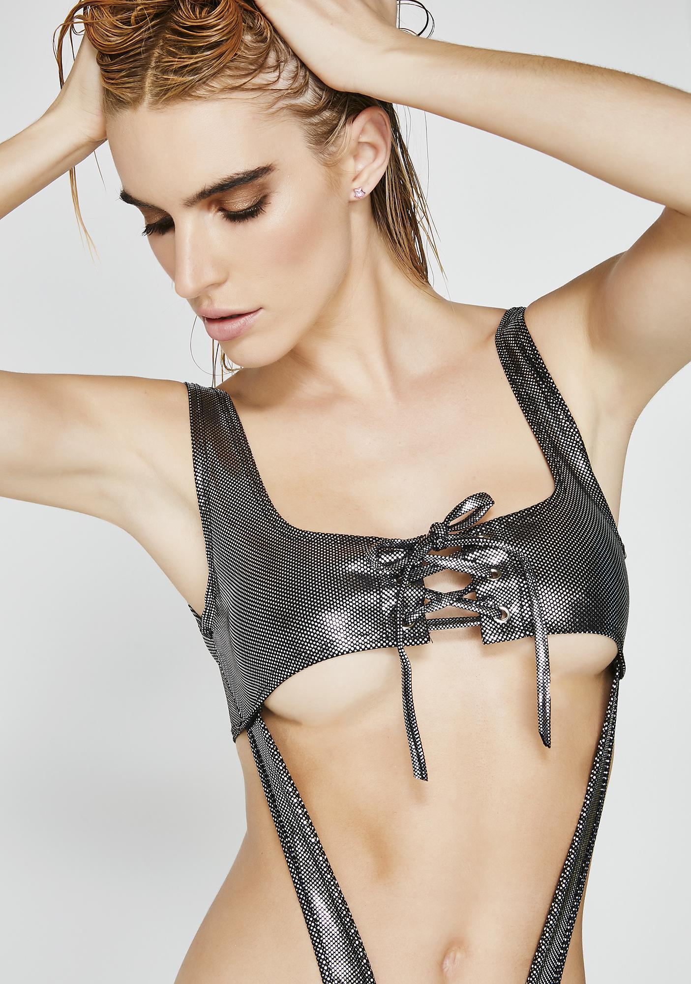 Metal Suckerpunch Cut-Out Bodysuit