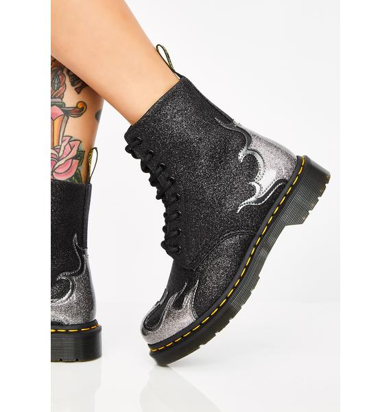 Dr. Martens Onyx 1460 Pascal Flame Boots
