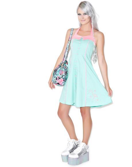 Peggy Pink Flamingo Dress