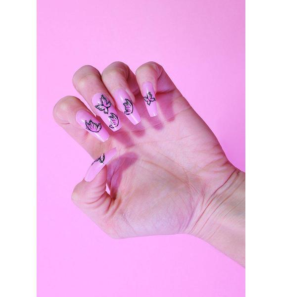 SHRINE x Alice MC Butterflies False Nails