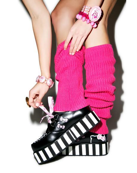 Pink Ribbon Hello Kitty Bow Creepers