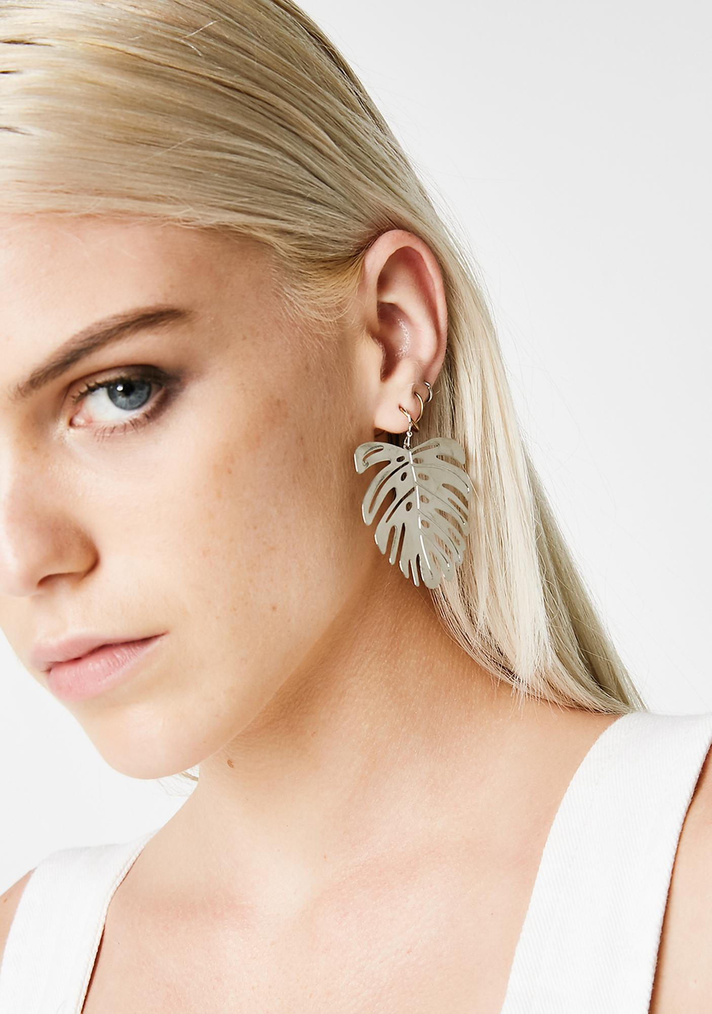 Vacation Mode Palm Earrings