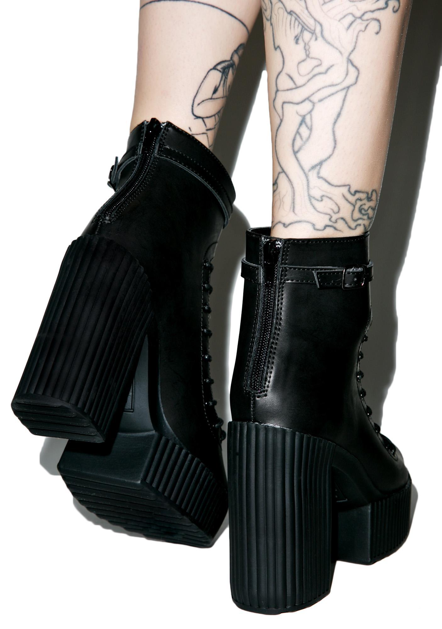 T.U.K. Gladiator Yuni Heeled Boots