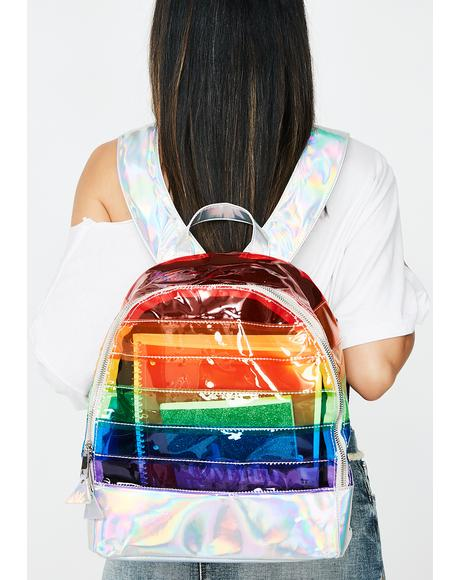 Multi Transparent Backpack
