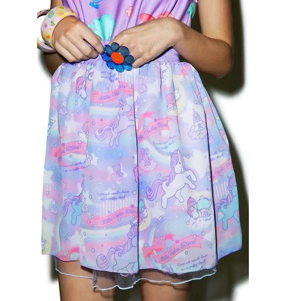 Japan L.A. Little Twin Stars Dreamy Unicorn Tulle Skirt