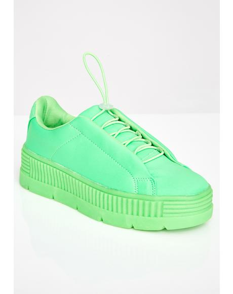 Slime Anti-Gravity Platform Sneakers