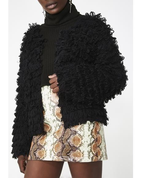 Lovely Nights Shaggy Cardigan