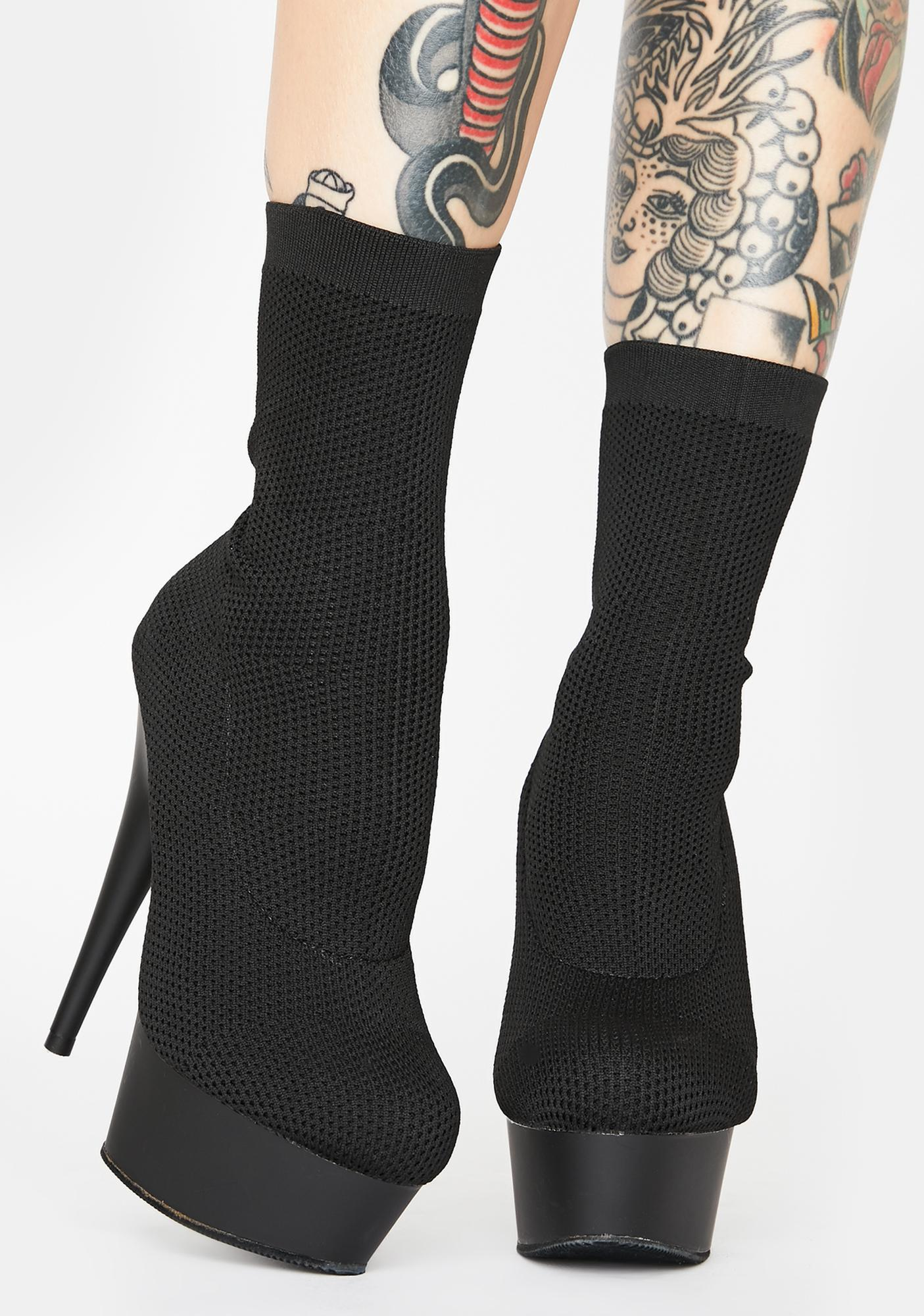 Pleaser Clout Alert Sock Boots