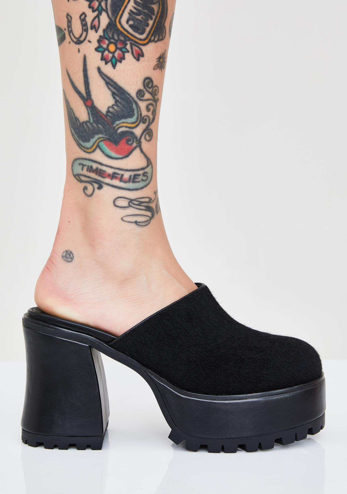 dELiA*s by Dolls Kill Ta Ta For Now Platform Mules