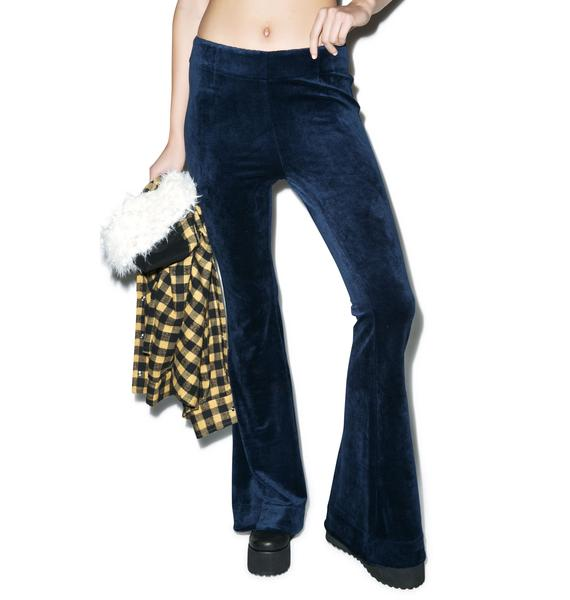 Somedays Lovin Wise Guy Velvet Flare Pants