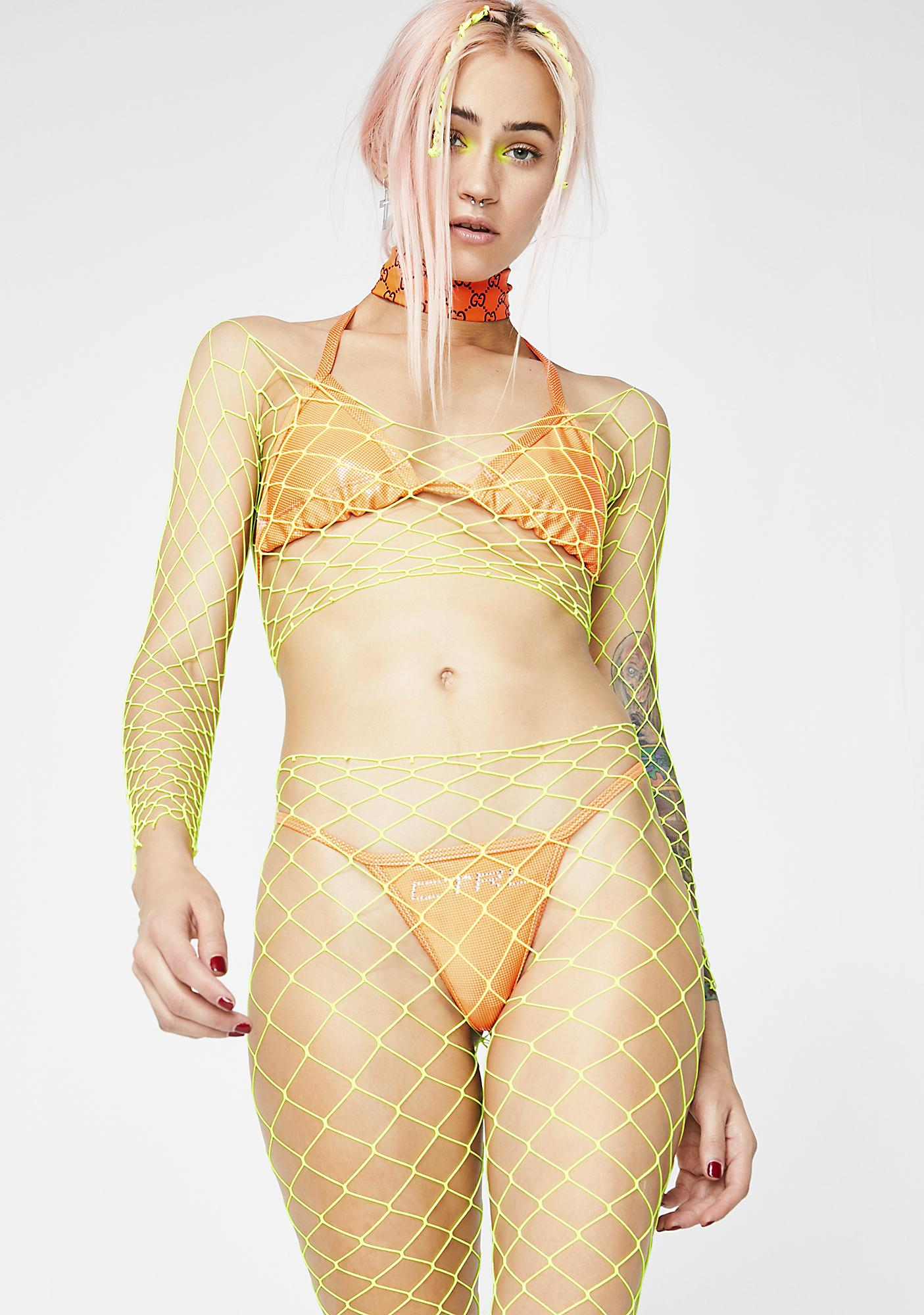 Flyin' My Freak Flag Fishnet Set