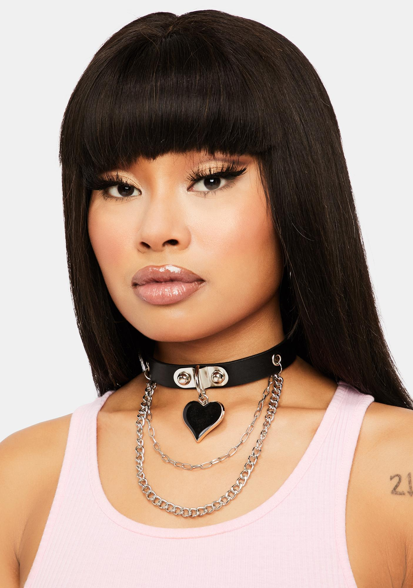 Dark Hearted Chain Choker