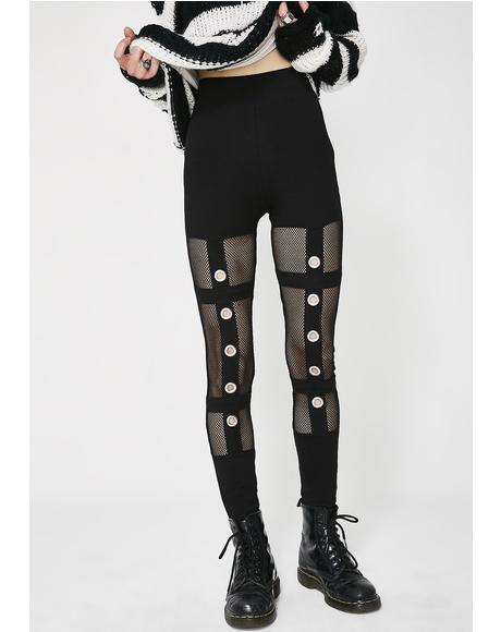 Mesh Grommet Leggings