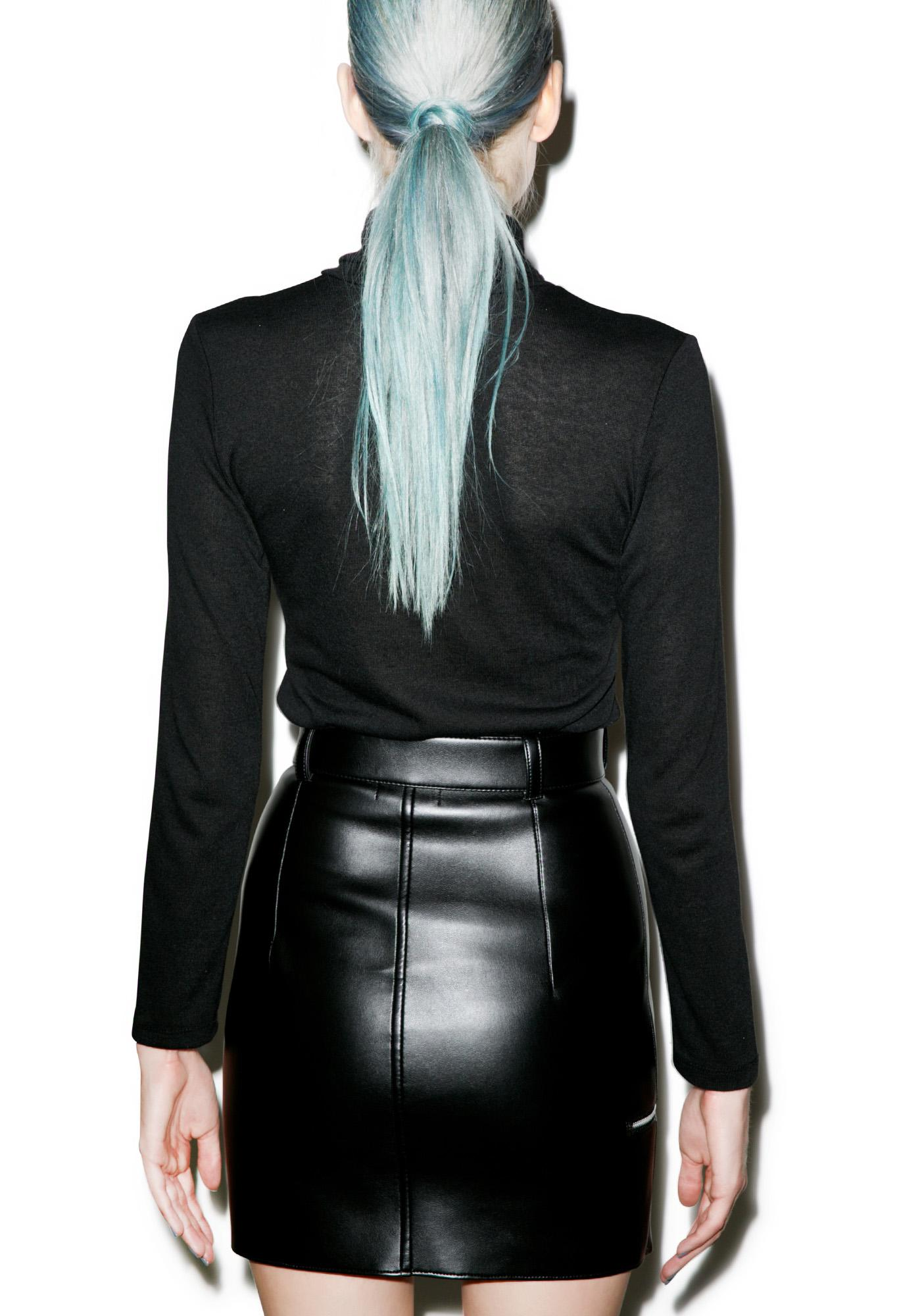 Matter of Black Bad Ass Vegan Leather Skirt