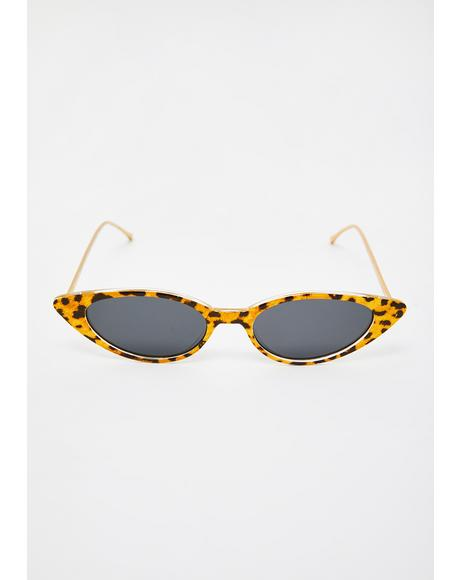 Leopard Isla Cat-Eye Sunglasses