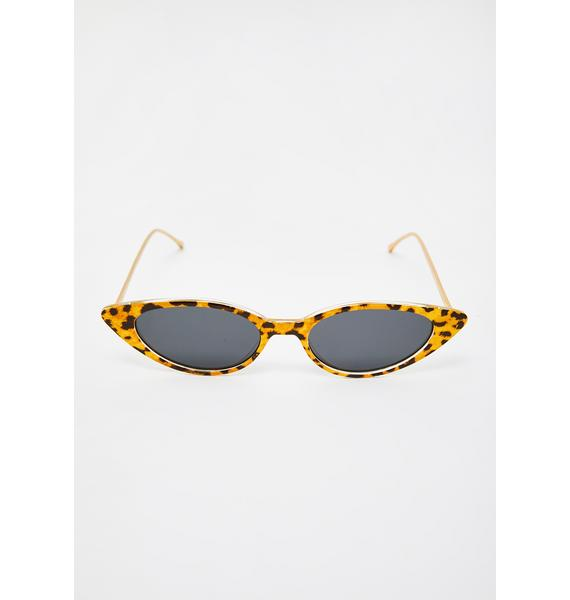 I-SEA Leopard Isla Cat-Eye Sunglasses