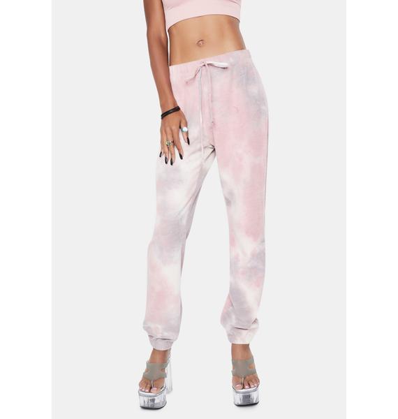 Bailey Rose Mauve Tie Dye Sweatpants