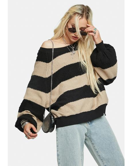 Found My Friend Striped Pullover