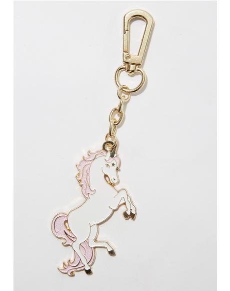 Unicorn Enamel Keychain
